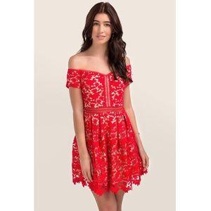 Francesca's Beverly Off the Shoulder Lace Dress